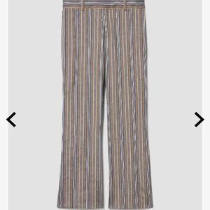 NEW Derek Lam Striped Twill Cropped Flare Trousers